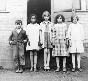 During the Depression, children often attended a one-room school house, with one teacher teaching eight grade levels.